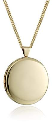"Hand Polished 18k -Plated Round 26mm (1"") Locket Necklace"