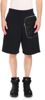Givenchy Zip-Pocket Sweat Shorts, Black $895 thestylecure.com