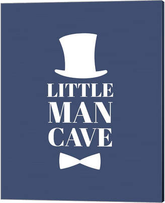 Metaverse Little Man Cave Top Hat And Bow Tie - Blue By Color Me Happy Canvas Art