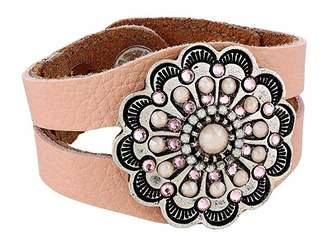 Leather Rock Addie Bracelet