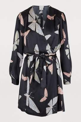 """Forte Forte Papillons Gitans"""" print short dress"""