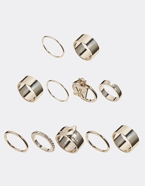 Kardashian Kollection Kardashian Eleven Piece Multipack Ring