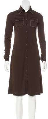 MICHAEL Michael Kors Button-Up Midi Dress