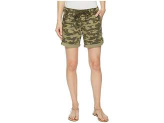 Jag Jeans Petite Petite Adeline Denim Shorts in Drab Green Camo Women's Shorts