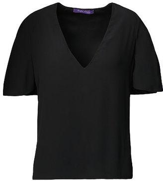 Ralph Lauren Tonya Cape Blouse $990 thestylecure.com