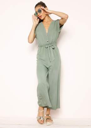 a34dfac309ee Missy Empire Missyempire Cathy Khaki Belted Jumpsuit