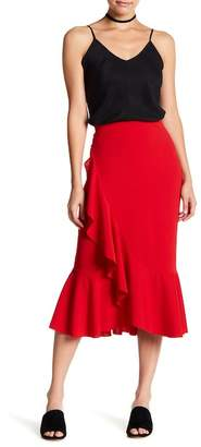 Know One Cares Ruffle Midi Skirt $38 thestylecure.com