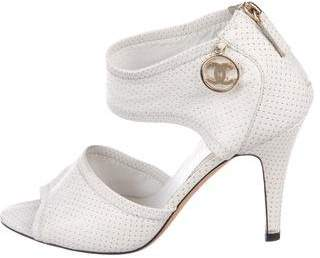 Chanel Perforated Peep-Toe Pumps