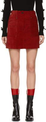 McQ Red Major Miniskirt