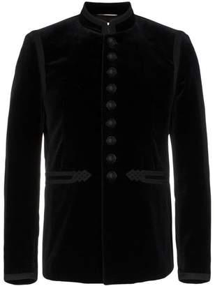 Saint Laurent velvet embroidered jacket