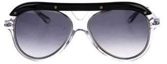 Roland Mouret Aviator Tinted Sunglasses