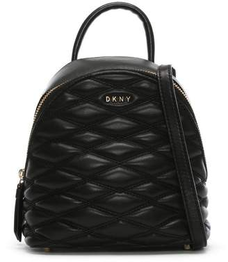 DKNY Mini Quilted Black Leather Backpack