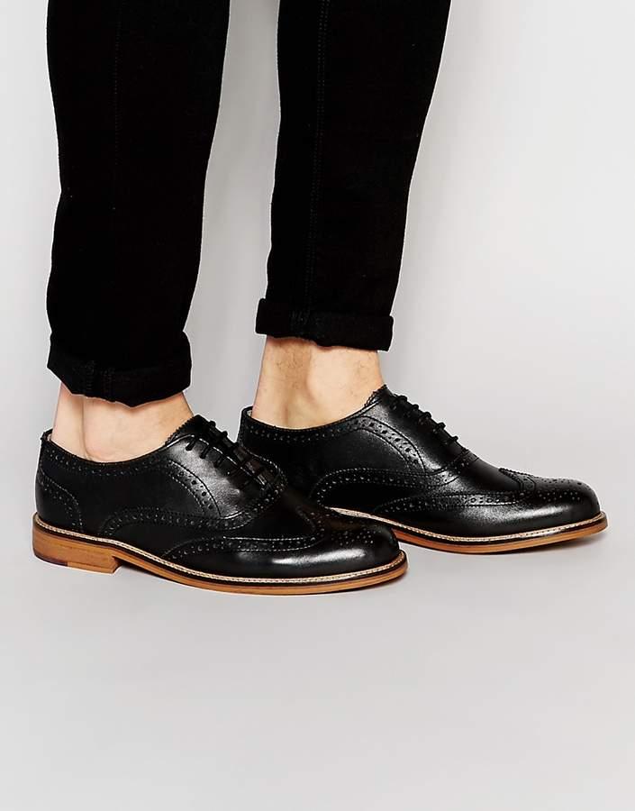 Ben ShermanBen Sherman Deon Brogues In Black Leather