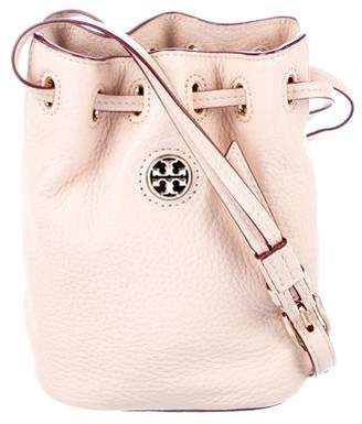 Tory Burch Mini Brody Grained Leather Bucket Bag