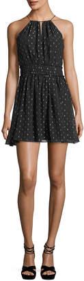 Joie Althia B Sleeveless Chiffon Halter Dress