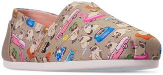Skechers Women Bobs Plush - Grumpy Vacay Bobs for Dogs and Cats Casual Slip-On Flats from Finish Line