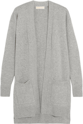 MICHAEL Michael Kors - Merino Wool And Cashmere-blend Cardigan - Gray $315 thestylecure.com