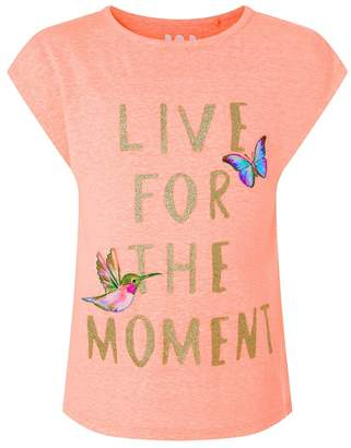 Monsoon Girls' Pink Live For The Moment Top