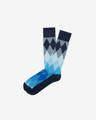 Express Marled Diamond Dress Socks