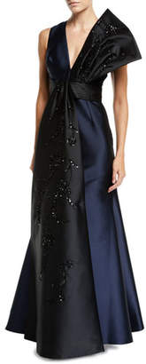 Sachin + Babi Remi Gown w/ Embroidered Sash