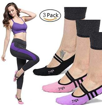 Equipment LIBRUONE Yoga Non Slip Skid Barre Pilates Ankle Sock with Grips Cotton for Women One