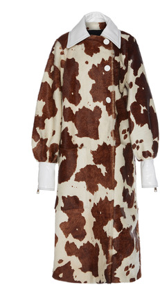 Wanda Nylon Calf Fur Oversized Coat