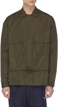 Oamc Drawstring twill shirt jacket