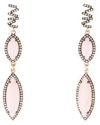 Suzanne Kalan 18K Opal & Diamond Drop Earrings
