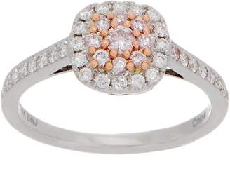 Affinity Diamond Jewelry Affinity Diamond Natural Pink Ring, 1/2cttw, 14K Gold