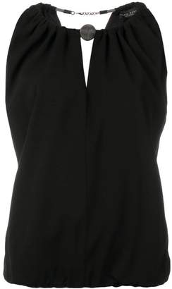 Fabiana Filippi ruched sleeveless blouse