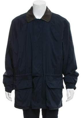 Loro Piana Leather-Trimmed Lightweight Jacket