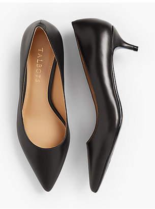 Talbots Sylvie Kitten-Heel Pumps - Leather