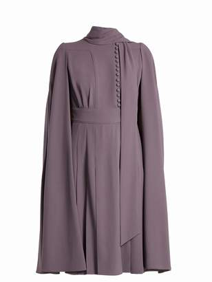 Valentino Cape-back crepe dress
