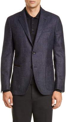 Ermenegildo Zegna Informale Classic Fit Check Wool Sport Coat