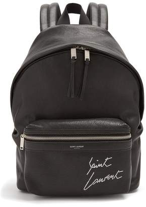 Saint Laurent (サン ローラン) - SAINT LAURENT City mini leather backpack