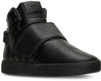 adidas Men's Tubular Invader Strap Casual Sneakers from Finish Line $110 thestylecure.com