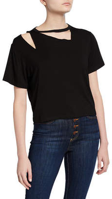 Alice + Olivia JEANS Rosylyn Short-Sleeve Cutout Tee
