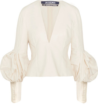 Jacquemus - Cotton Top - Ecru $510 thestylecure.com