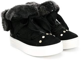 Elisabetta Franchi fur lined sneakers