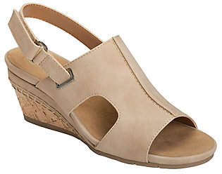 Aerosoles Heel Rest Wedge Sandals - Shortcake