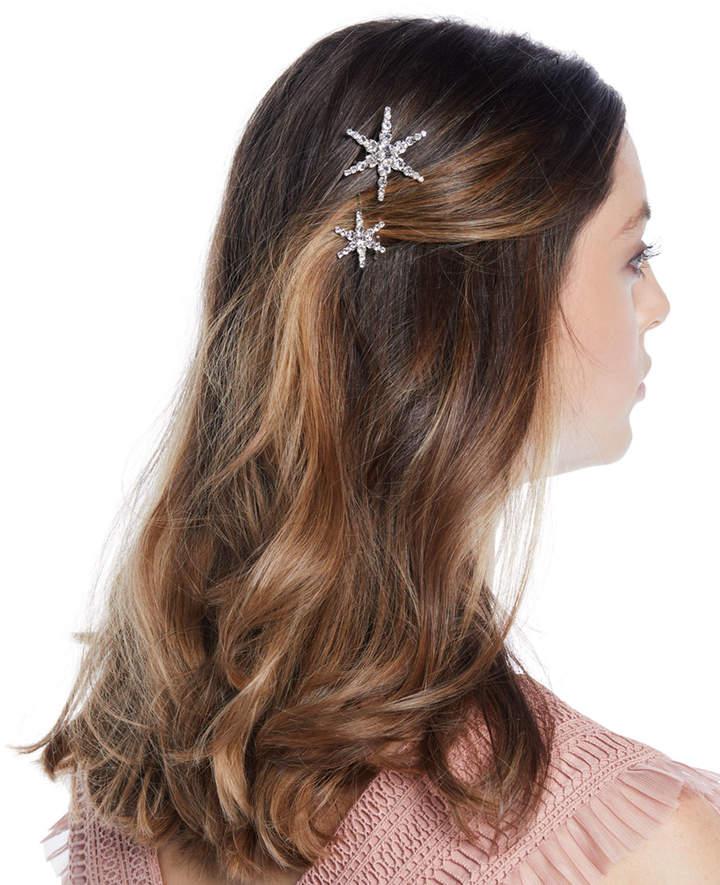 Jennifer Behr Orion Swarovski Crystal Star Bobby Pins, Set of 2