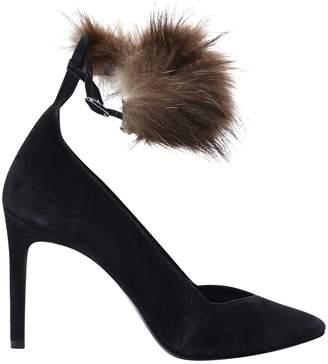 Maje Black Suede Heels