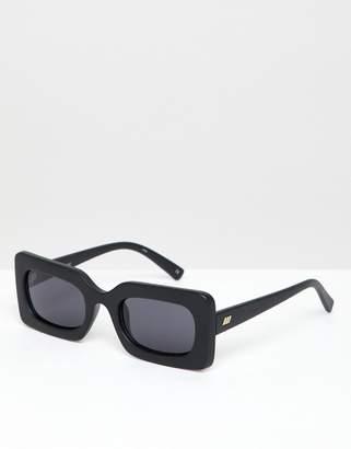 954fd1e567e Le Specs Damn! square sunglasses in black