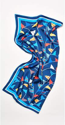 J.Mclaughlin Silk Scarf in Mini Lyford Flags