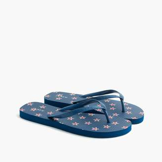 J.Crew Skinny classic flip-flops in star print