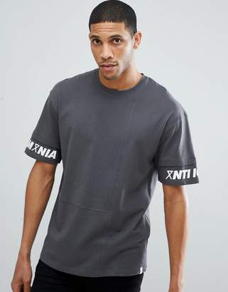 Jack and Jones Core Drop Shoulder T-Shirt With Sleeve Print
