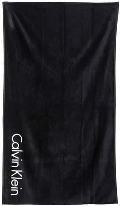 Calvin Klein Underwear Logo Cotton Terrycloth Beach Towel