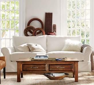 Pottery Barn PB Comfort Eco Roll Arm Slipcovered Sofa