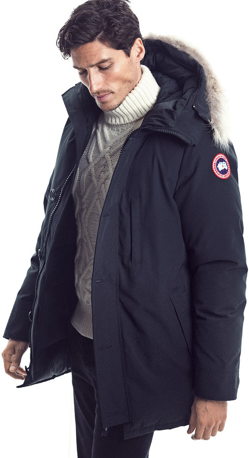 Canada Goose Chateau Parka w/Fur Trimmed Hood, Navy 2