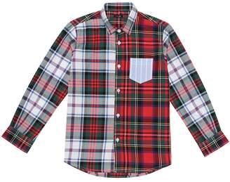 Il Gufo Checked stretch-cotton shirt